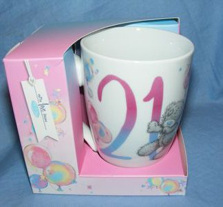 Me To You 21st Birthday Champagne Glass Tatty Teddy Gift Present AGN01002